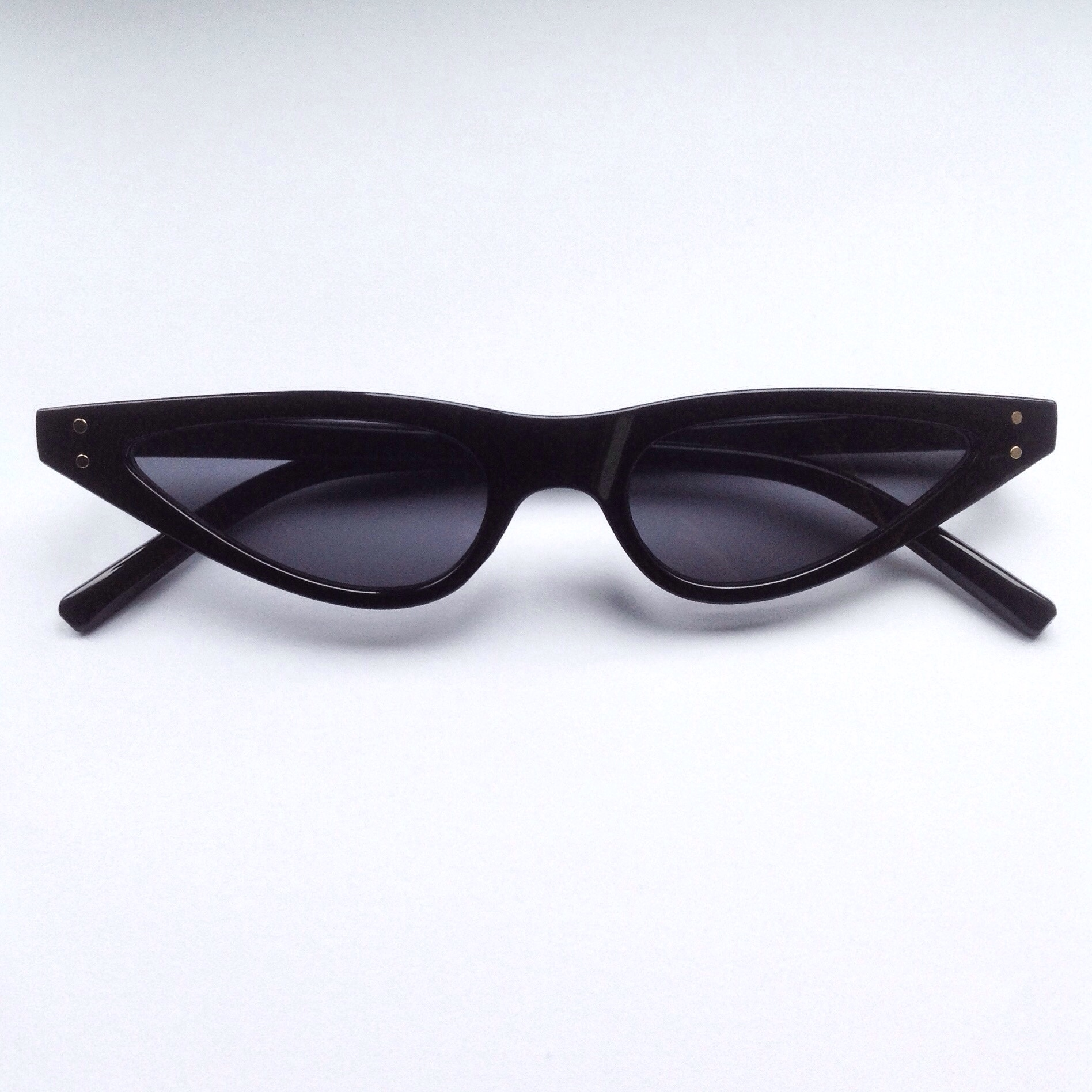 67c1188f12  neonalien. last year. United Kingdom. On trend Retro style thin small Black  Cat Eye Sunglasses ...