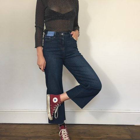6137f2607957 Cropped wide leg jeans! These still have the label attached