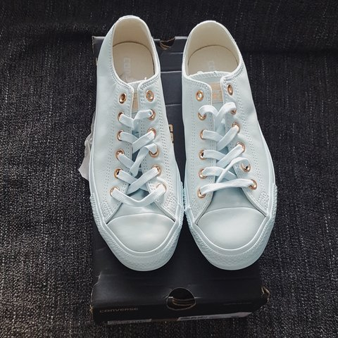 6dcfccfba4c2bf Acquistare converse all star low leather powder blue rose gold exclusive
