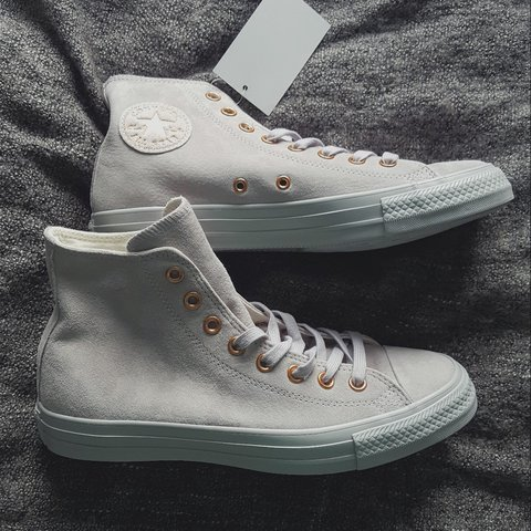 e615b526ffd Women s Ash Grey Rose Gold All Star Hi Office Exclusive UK - Depop