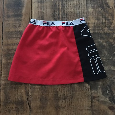 4bd4750f4e5a Fila mini skirt, sporty style but can wear to literally xs - Depop