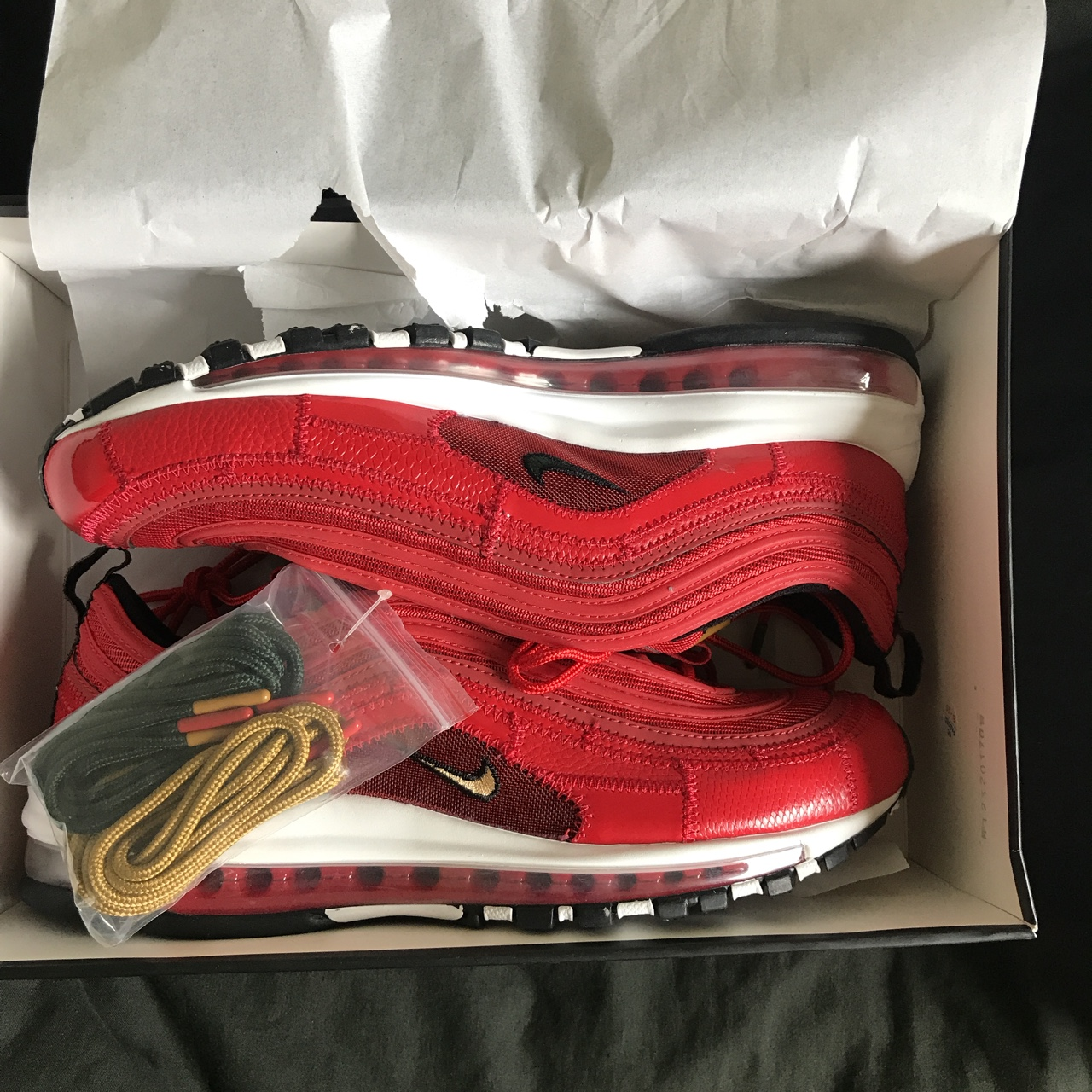 Nike air max 97 CR7 university red U.K. 10 Still Depop