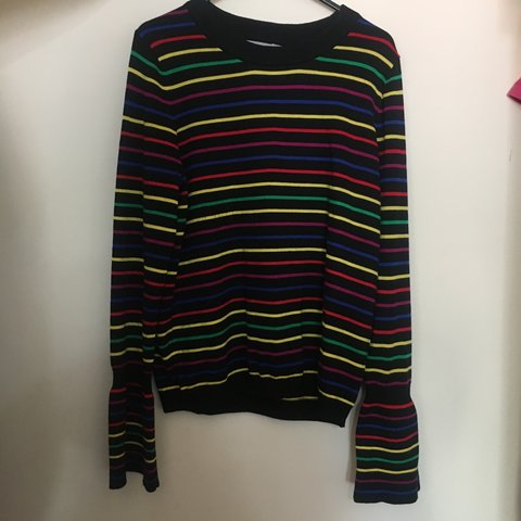 1a2d591eca ASOS colour stripe jumper UK size 12 - Depop