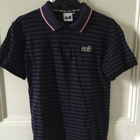 5557b0828398 Extremely rare! A Bathing Ape Bape x Lacoste polo shirt. and - Depop