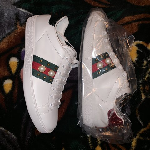 be409074d Gucci Sneakers Size 39. True to size. 9 US Brand new in box - Depop