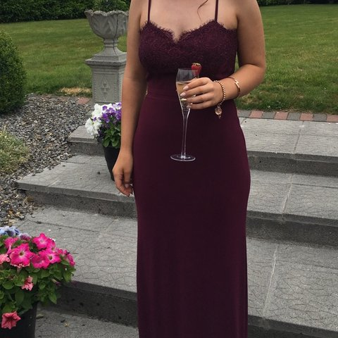 fc098799c6 Burgundy debs dress bought for 270 selling for 100