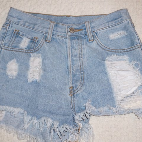 b7dd3d446d @londoneliza. 5 months ago. Long Beach, United States. ripped/distressed brandy  melville jean shorts