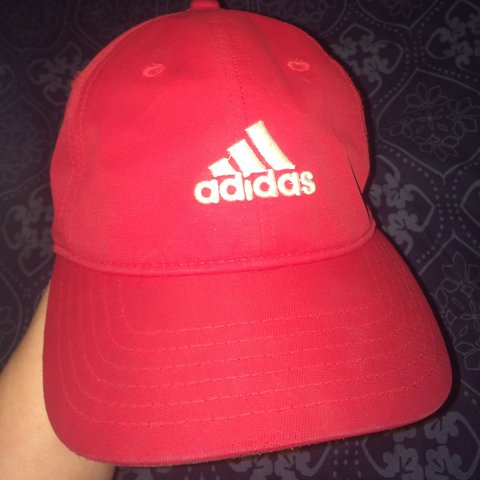 a053d425 @mianski. last year. Kingsbridge, United Kingdom. Red and white ADIDAS cap. Good  condition