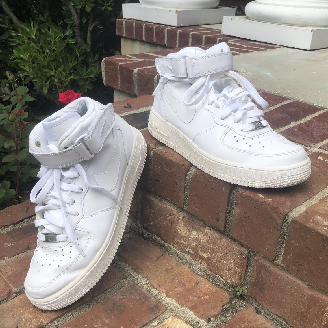 Nike Air Force 1 High Tops   Size 8 Men's / Size 10... - Depop