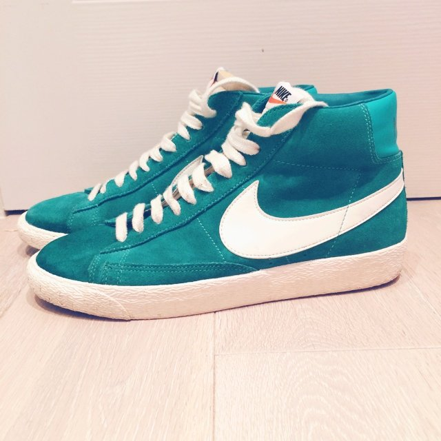 outlet store 5072c 3463a  laulgreen07. 5 years ago. Waltham Abbey, United Kingdom. Green Nike  Blazers size 8 ...