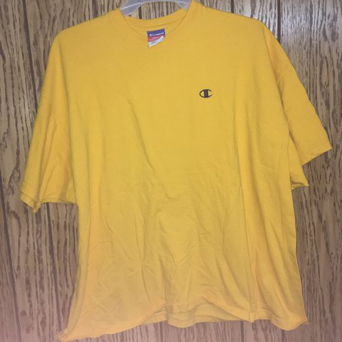 9aa7f237 @jefting5. last year. Cedar Rapids, United States. Champion yellow authentic  athletic t-shirt.