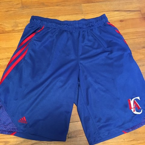 new style 42e54 49c42  jefting5. 7 days ago. Cedar Rapids, United States. Vintage blue adidas  L.A. clippers basketball shorts