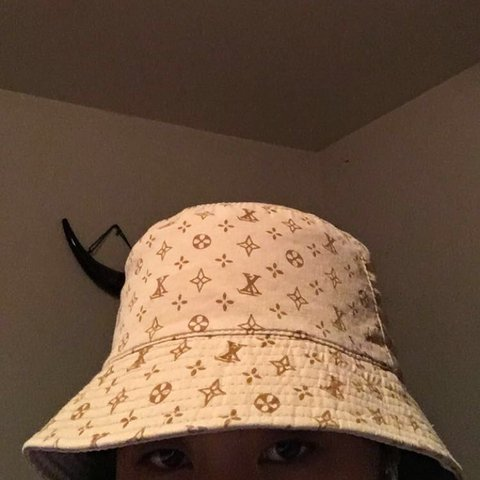 4d65a9bcecd FAKE louis vuitton bucket hat! super trendy and sick! this a - Depop