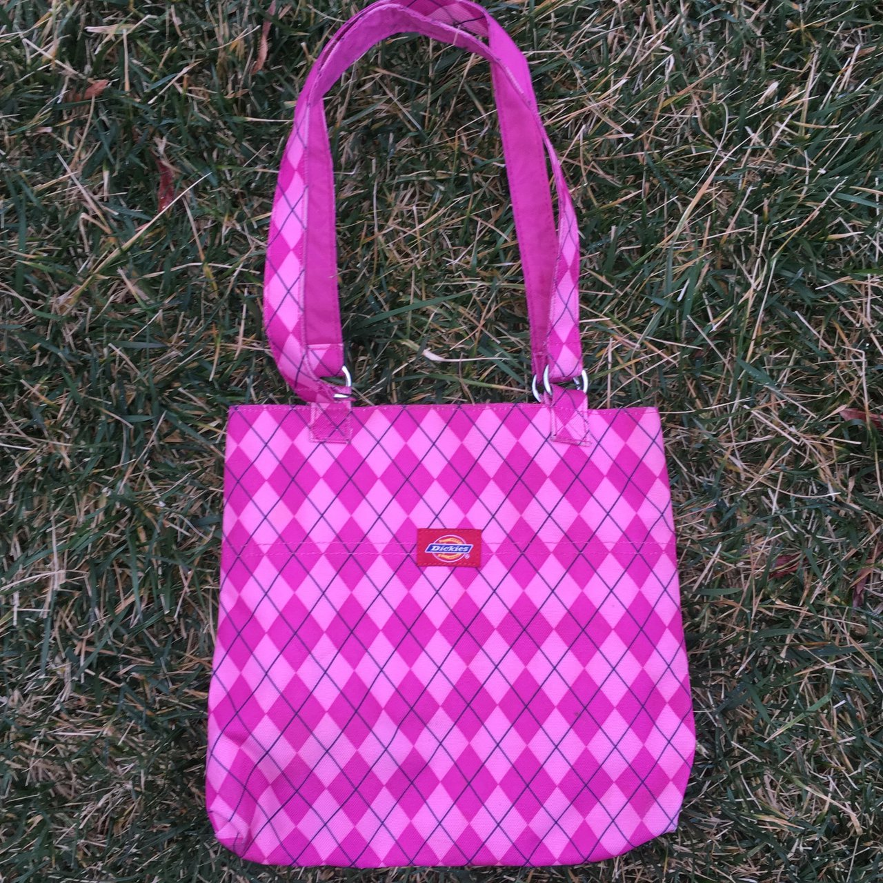 amazing pink plaid dickies bag 💖 omg this bag is so cute me - Depop 9c730110334f4