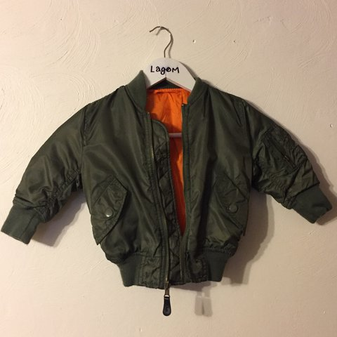 174bf57a3 Alpha industries baby bomber jacket fits 2 year old  nike - Depop