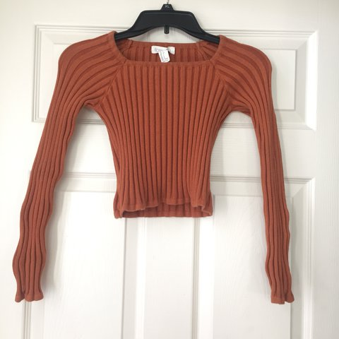 1a7f0a19f726f5 @mvillella. last year. Flushing, United States. small forever 21 burnt  orange ribbed crop top, long sleeves. great condition. ...