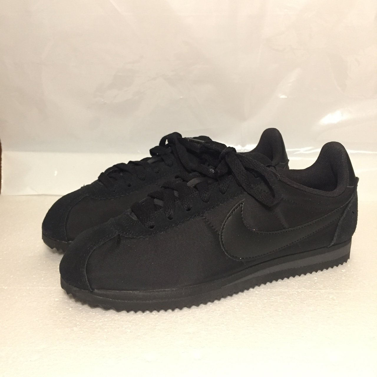 buy online 04a7f c2e33  justdoneit. last year. Leeds, United Kingdom. Nike Classic Cortez • Suede Nylon  • Brand New with Box (no lid) • Triple Black ...
