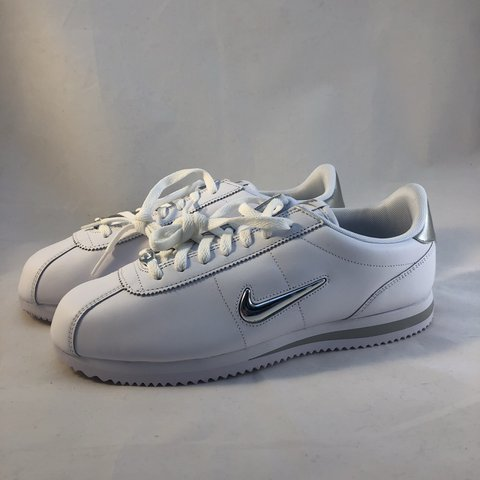 best service 2da40 042dc Nike Cortez Basic Jewel • White Leather • Mens UK 9 • Style