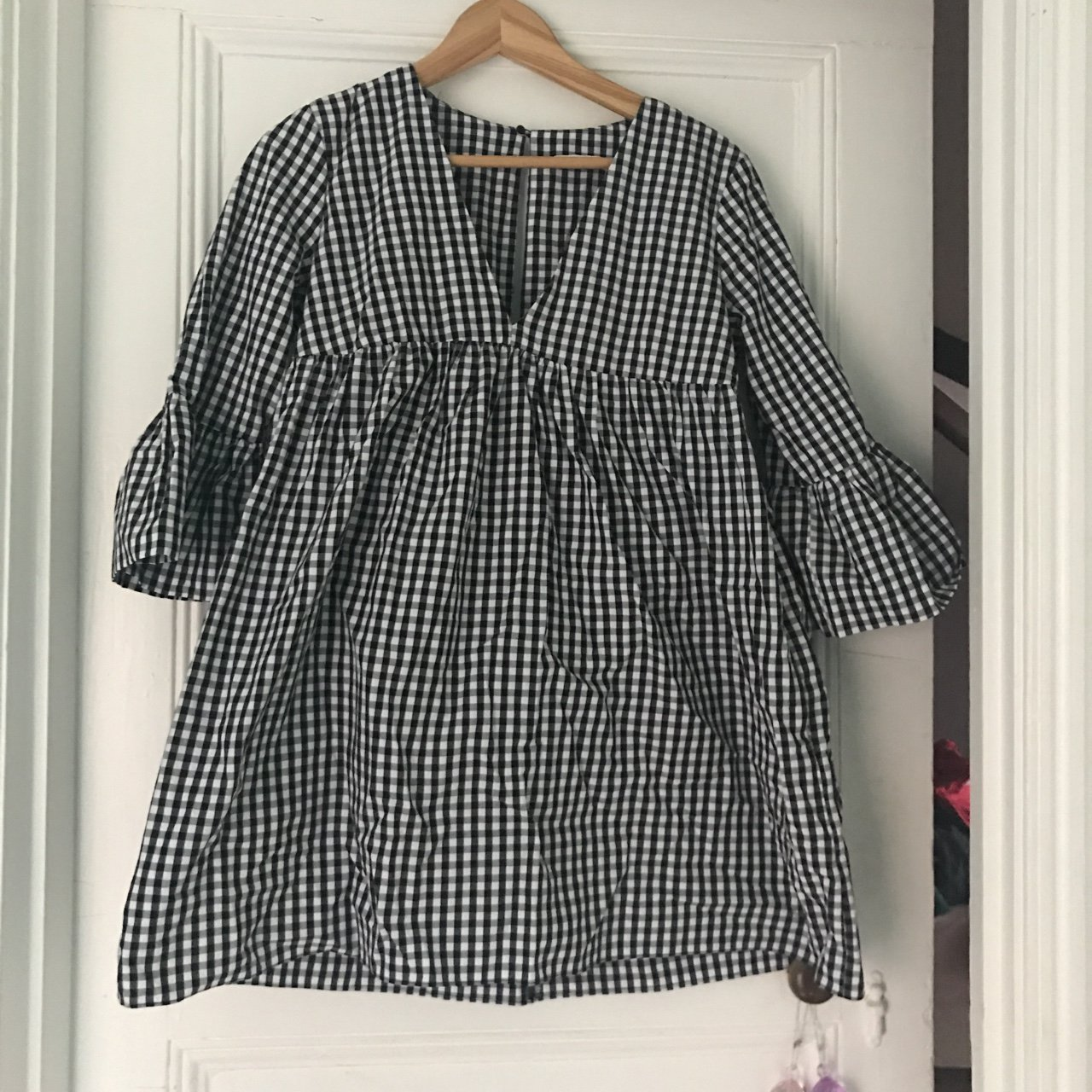 69b6c20cbea Really cute Checked  gingham smock playsuit from zara. Never - Depop