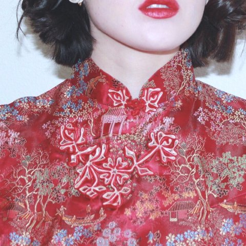 3d993174d Authentic Chinese Red Cheongsam Gown The Cheongsam Gown is - Depop