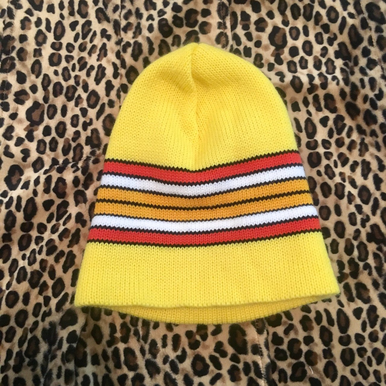 Yellow Urban Outfitters Unisex Beanie 🌛 One-Size Skater - Depop f71932f2217