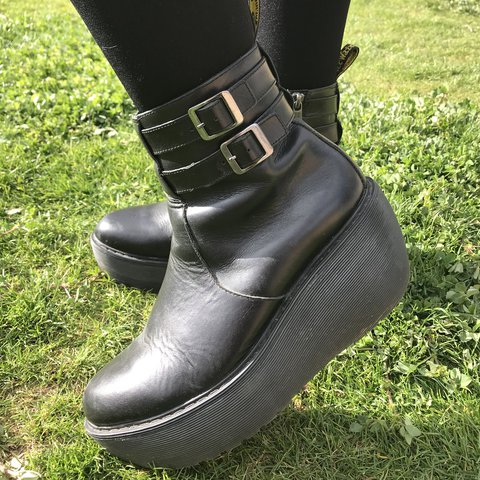 """06e11b40e7d Discontinued Dr. Martens """"Caitlyn"""" wedge boot. Durable and - Depop"""