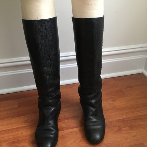 7dee871cd92c @styleseekers_thrift. 6 months ago. New York, United States. Fendi Black  Genuine Vintage Motorcycle Women's Leather Boots ...