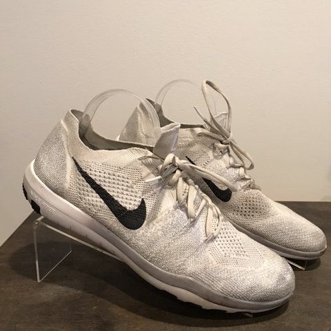 fa0512afe70a Nike Free RN Flyknit 2018 Men s Running Shoes Size 12 White. - Depop