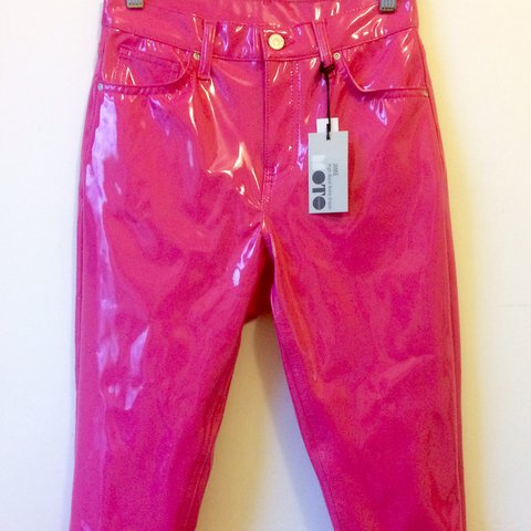 14aa9e97cd72f Topshop Pink Vinyl Jamie Ankle Grazer - Brand New