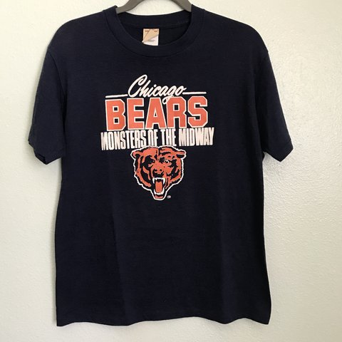 Vintage Monsters of the Midway T shirt Da bears Size  L a - Depop c90a25138
