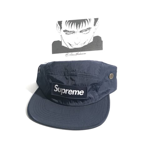 b25e17a1a5b Supreme Washed Nylon Camp Cap (Navy) New with sticker. Wanna - Depop