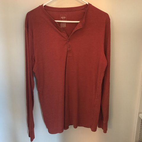 a16a343d Mossimo supply red henley shirt. Soft, light, and - Depop