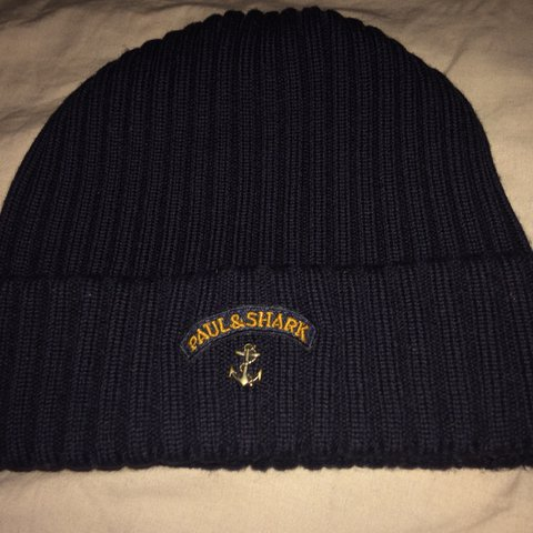 42906395b31 New Paul and Shark Beanie(Navy Blue) 10 10 condition Bought - Depop