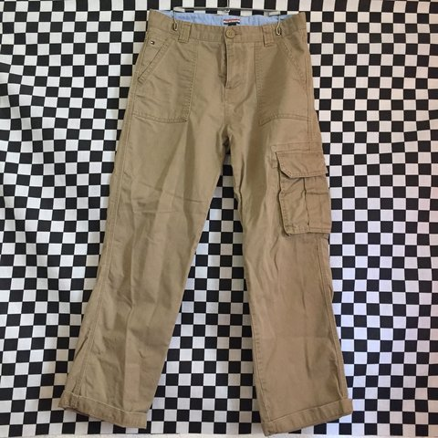 2f3aa282 Very nice Tommy Hilfiger Cargo Style Khaki Pants. They are a - Depop