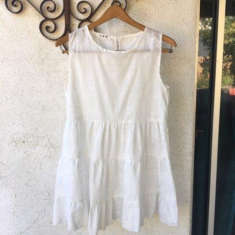 783e5493536 Really cute white embroidered baby doll dress! So cute I it - Depop