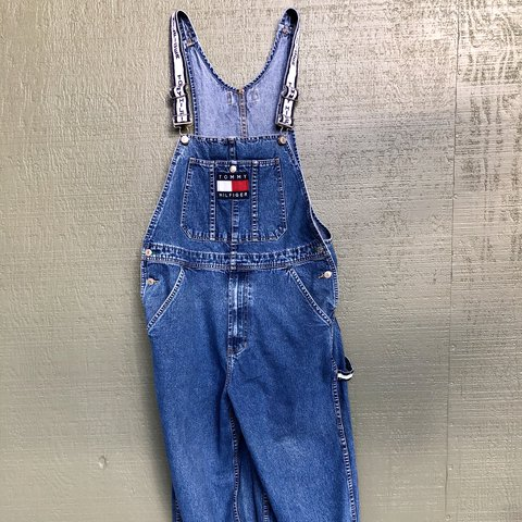 a9756dcb @callystaw. last year. Talent, United States. Vintage 90s hip hop TOMMY  HILFIGER Denim Overalls