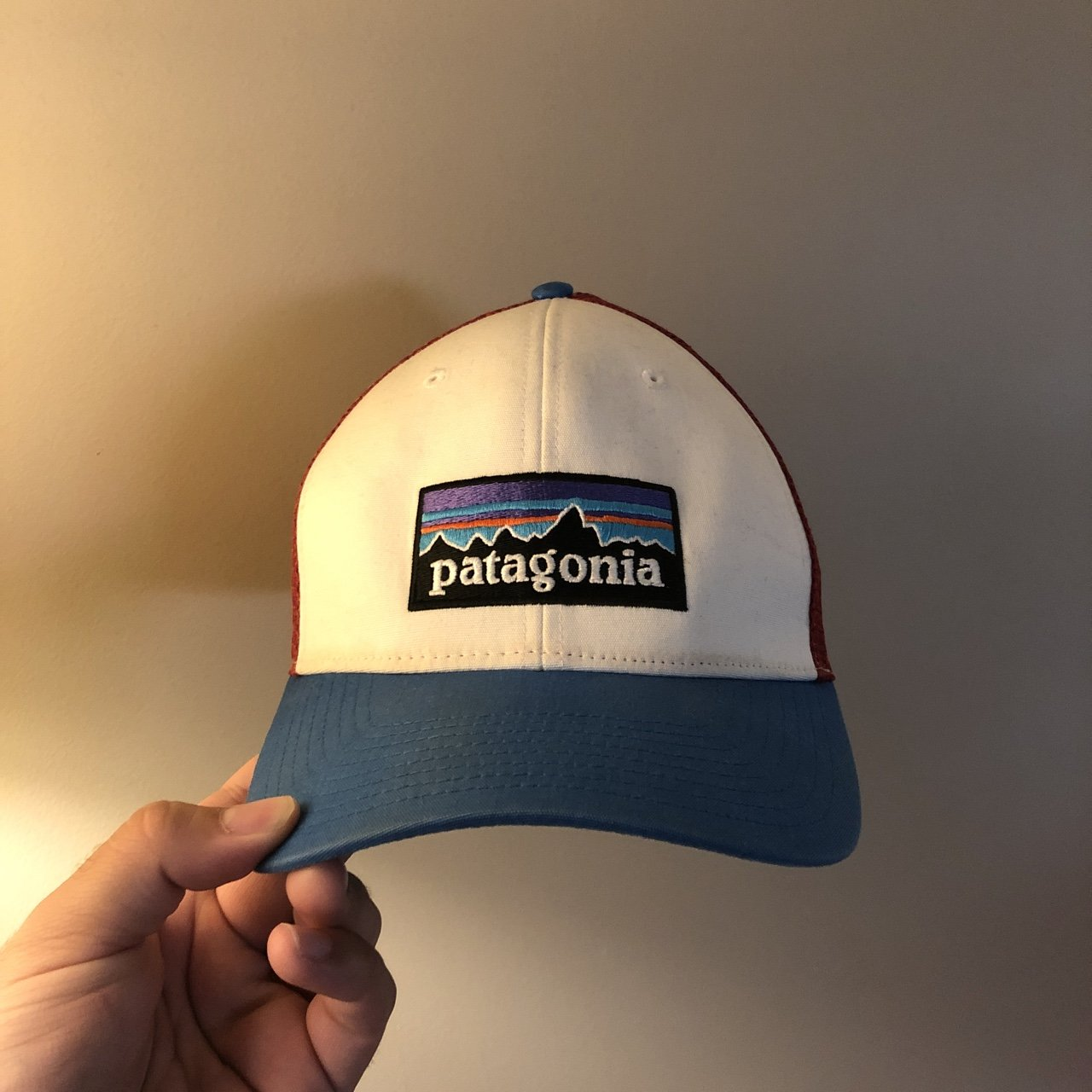 05dabf0cd38 Perfect condition blue Patagonia snapback trucker hat! Free - Depop