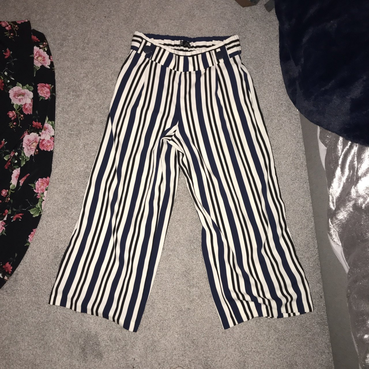 4afb9ce4f2e1 Pinstriped Navy white and black