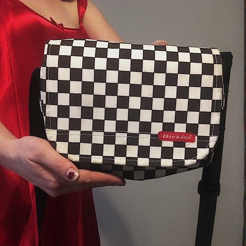🎱Checkered Dickies Purse🎱 adjustable strap 8de92e579daf3