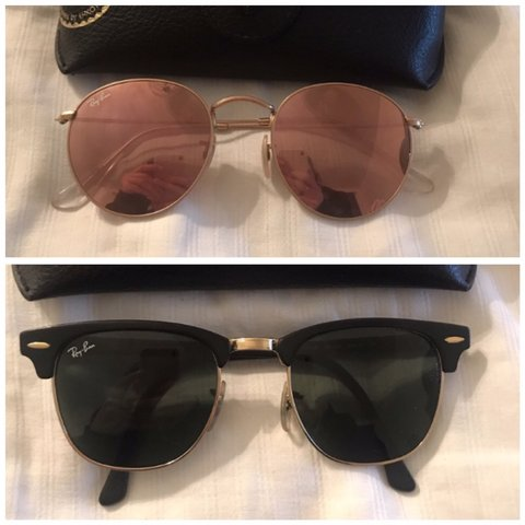 d7dec56254158 Bundle!! both sunglasses for 130 ! ray ban clubmaster and - Depop