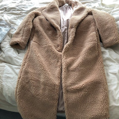 Teddy Jas.H M Long Teddy Coat Teddy Jas Size S H M Hm Teddycoat Teddy Depop