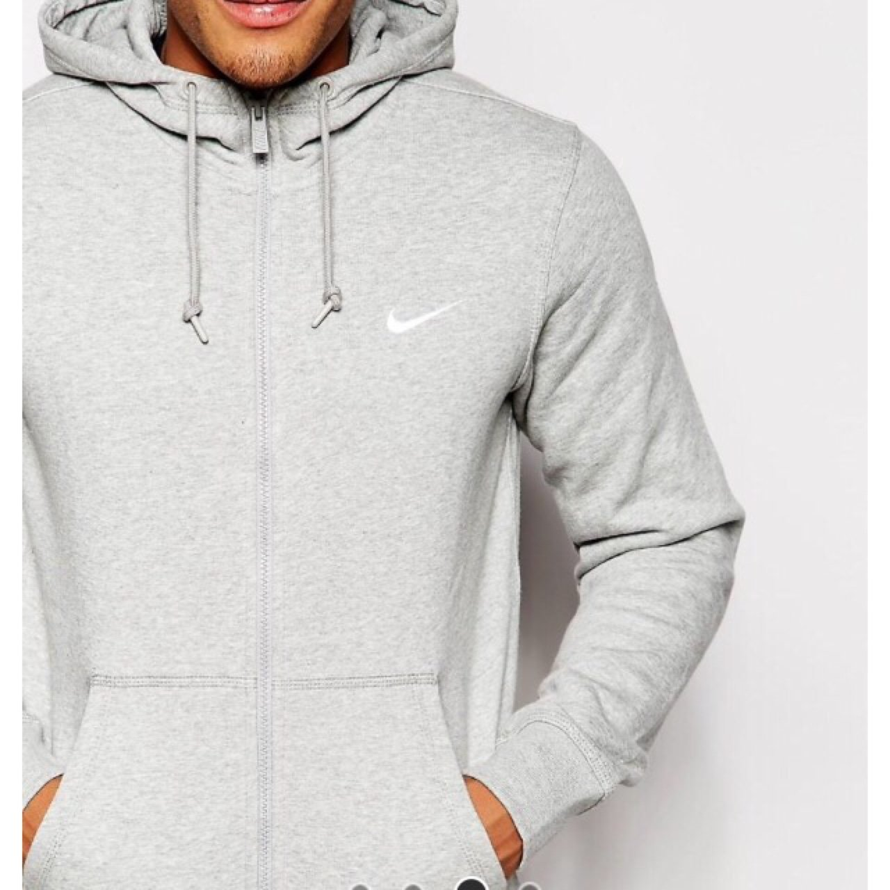 Grey Nike zip up hoodie hoody jacket in a size large L a9cbdae52887