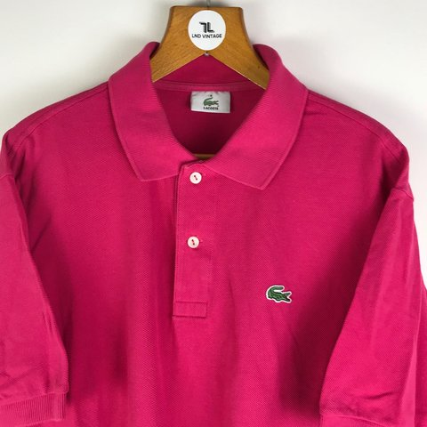 97d55f595 Vintage Lacoste Polo Shirt in pink 🙌🏽   Embroidered Front - Depop