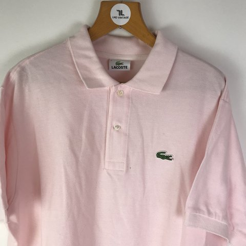 93fc5e31a Vintage Lacoste polo shirt in baby pink 🙌🏽   Embroidered   - Depop