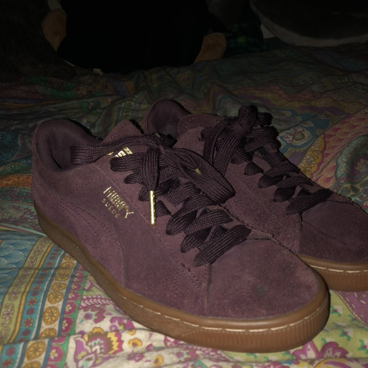 Puma suede gently worn sneakers super comfy and cute hardly - Depop 497a5c1ac