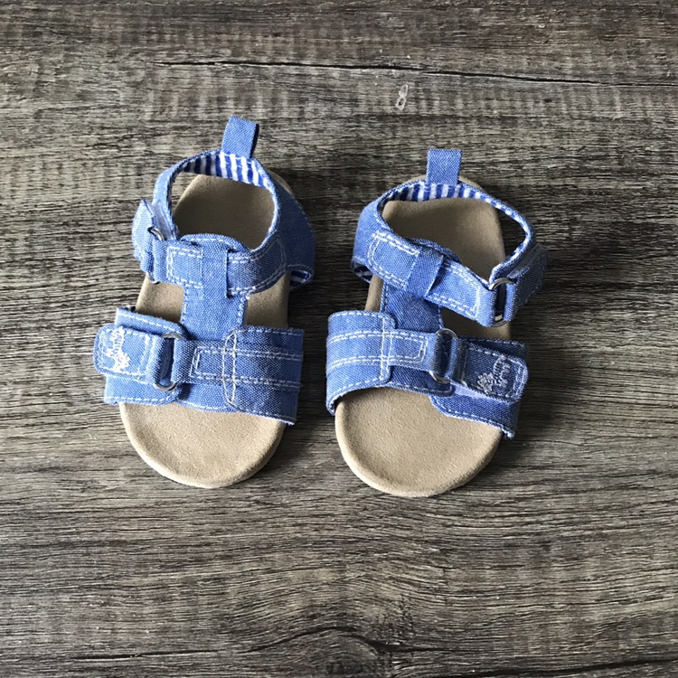 Next infant/baby blue sandals. In