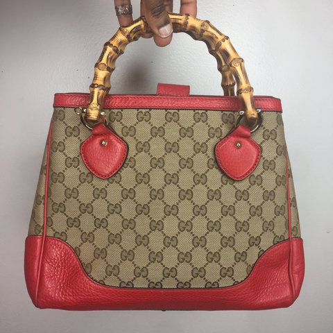 b3fe194889b7d0 Gucci Monogram Diana Bamboo Top Handle This AUTHENTIC and 3 - Depop