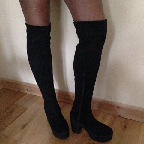 c325f590a46 Over the knee wedge boots. In very good condition