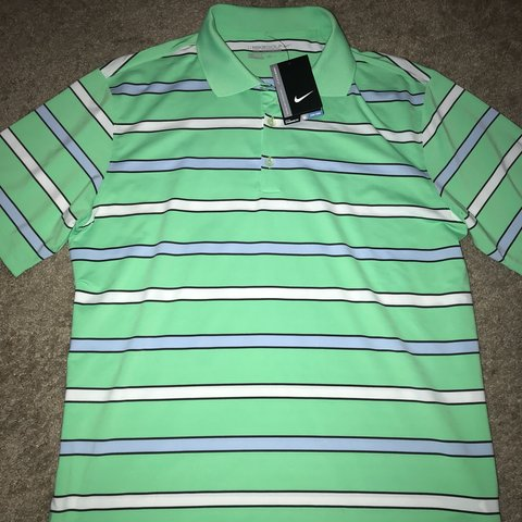 f64651395 Nike Golf dri-fit Polo Size Medium Brand New with tags Green - Depop