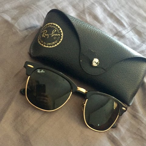 b990d869716 Authentic Ray Bans ClubMaster Sunglasses! Purchased from Ray - Depop